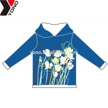 Customized plain unisex hoodies with flower