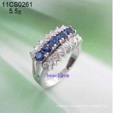 Joyas-Cubic Zirconia de plata anillos (11CS0261)