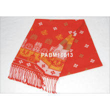 Orange And Red Comfortable Women Woven Silk Scarf Summer