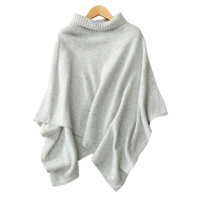 Women's poncho sweater color dot yarn cashmere knitting fashion turtleneck big shawls