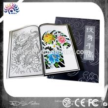 A4 página novo design tatuagem flash, livro de tatuagem com várias imagens de desenho, novela estêncil tattoo esboço livro