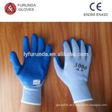 Polycotton Handschuhe mit Latex beschichtet auf Palme, 10 Gauge 5 Fäden