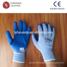 polycotton gloves with latex coated on palm,10 gauge 5 threads