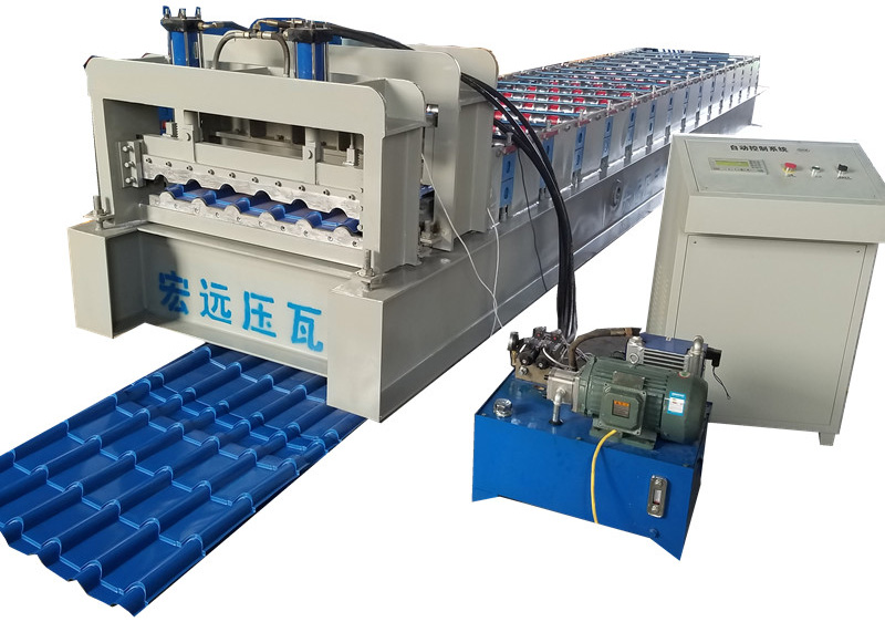 glazed roofing machine