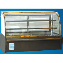 1.5 M Cake Display Showcase, Refrigerated Cake Display Cases, Commercial Display Glass Showcase for Cakes