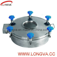 Sanitary Stainless Steel Presure Manhole Cover with Sight Glass