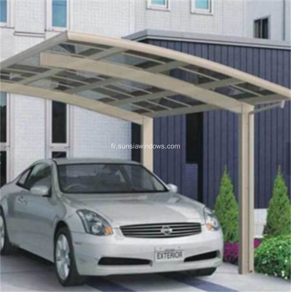 Anti-UV Aluminium Protective Car Shelter