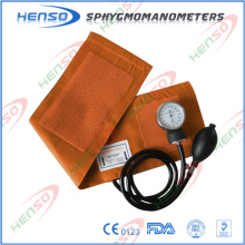 CE approval Aneroid Sphygmomanometer without D-ring, PVC bulb and bag