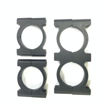 Collier de serrage rond en aluminium anodisé noir en métal