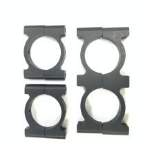 Round metal black anodized aluminum hose clamp