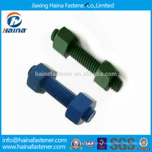 Teflon Coated ASTM A193 B7/ A320-L7 Stud Bolt with 2h Hex Nuts