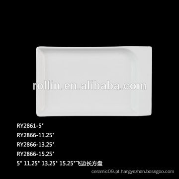 Durable Porcelain Rectangular Plates para restaurante