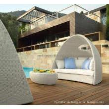 Wicker Rattan Outdoor Patio Pool Stuhl mit Schatten