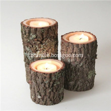 Real Tree Wood Birch Log Tea-light Candle Holder unique gift