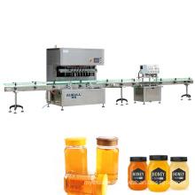 Automatic glass milk jar honey bottle filling machine