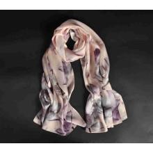 Новое прибытие оптовая цифровая печать женщин саржевые шелковый шарф