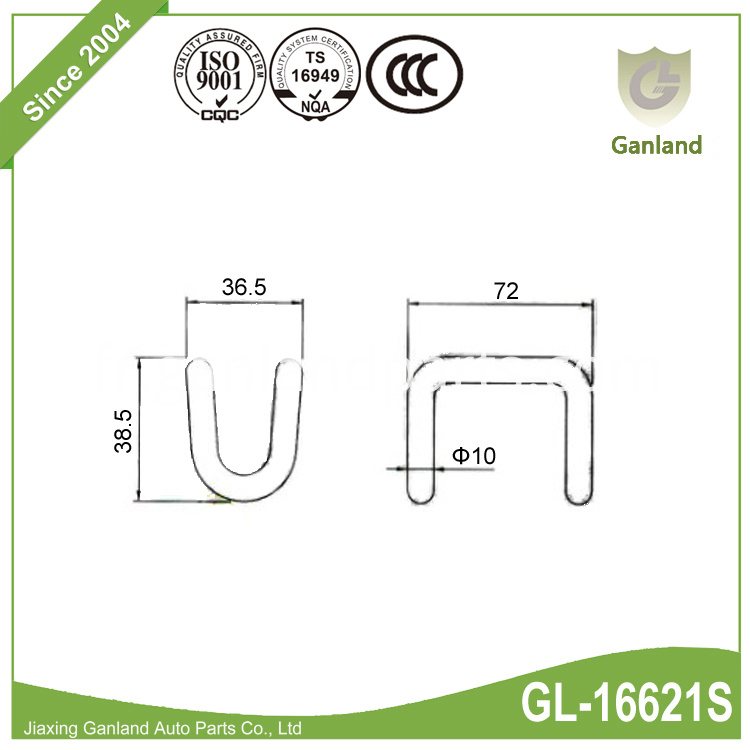 Stainless Steel Wire Hook GL-16621S