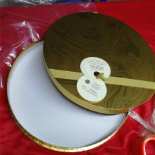 Golden Paper Card Round Tube Chocolate Gift Box