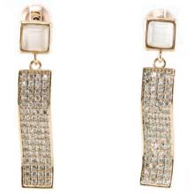 Boa qualidade e moda jóias 3A CZ 925 brinco de prata (E6512)