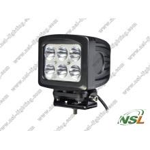Diodo emissor de luz do CREE 60W de 5PCS 6PCS * 10W fora do poder superior impermeável da luz de névoa da estrada para o caminhão
