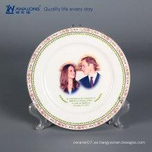 Platos de cerámica de encargo de la Navidad / placas de pared colgantes decorativas / placas de cerámica decorativas grandes