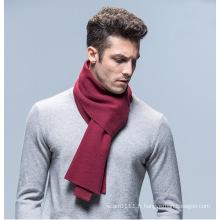 La mode des hommes couleur unie laine acrylique tricotée écharpe d'hiver (YKY4619)