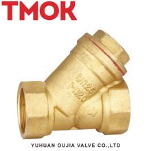 Válvula de patrón Y de alta calidad cromada y abatible de latón