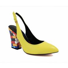 весна леди желтый обувь оптом женские кожаные сумки обувь