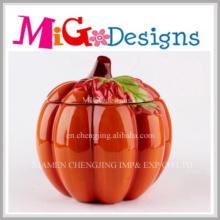 Fashionable Design Pumpkin Jar with Printing