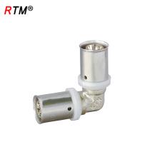 J17 4 13 3 ajuste de presión para tubo de pex, accesorios de tubería de latón niquelado pex al pex pipes y prensas