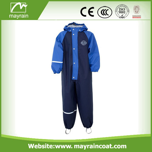 Polyester Black Blue Red Rainsuit