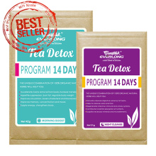 Té de desintoxicación de hierbas orgánicas adelgazando té de té de pérdida de peso (programa de desintoxicación de 14 días)