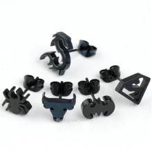 Homem morcego preto Unisex de aço inoxidável Brinco Ear Stud Moda Estilo Cool