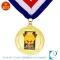 Preço de fábrica Customized alta qualidade barato esmalte macio executando medalha com chapeamento de ouro