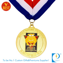 Factory Price Customized High Quality Cheap Soft Enamel Running Medal with Gold Plating
