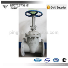 GOST cuniform rising stem carbon steel oil pipe fitting pn16 flanged gate valve