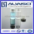 20ML Klarglas-Durchstechflasche mit fester weißer PP-Kappen-Chromatographie-Autosampler-Durchstechflasche