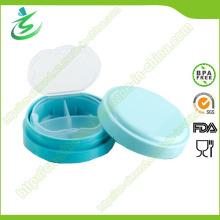 Boîte de pilule ronde gratuite BPA, boîte de pilule hebdomadaire