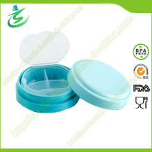 BPA Free Round Mini Pill Box, Weekly Pill Case