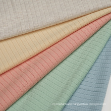 Ribbed Jacquard Cotton Polyester Spandex Jaquard Knit Fabric