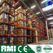 Pallet Storage Forklift Rail Guided Aisle Tunnel Drive In Rack