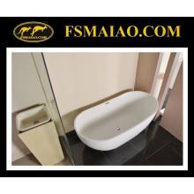 Современный тонкий край Отдельностоящей каменной ванной смолы (БС-8633)