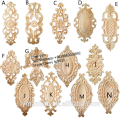 decorative carved wood onlays appliques for furniture cabinet