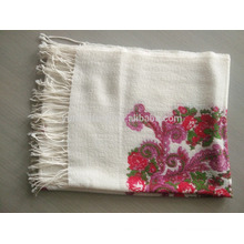 Pañuelo estampado de lana