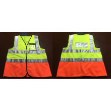 Reflective Vest with PVC Pocket, Meet En471/ANSI