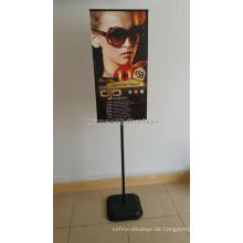 Zuverlässige Pvc Signage Indoor Retail Werbung Freestand Poster Board Stands Metall Display Stand