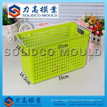 Fabricante plástico del molde de la cesta de fruta de la inyección