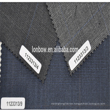 Italy Famous Brand ANGELICO Worsted plaid wool fabric for suit
