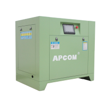2021 Hot sale low noise APCOM 15KW 20HP green color rotary screw air compressor