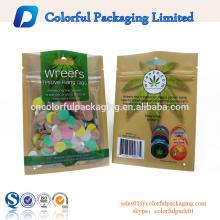 impressão plástica do saco da folha de alumínio da embalagem ziplock resealable impressa costume